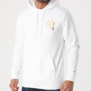 New Era - Sweat Capuche New York Yankees Metallic 12590869 Blanc Doré