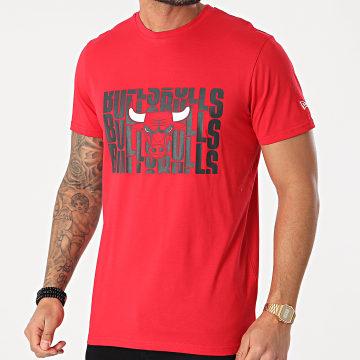 New Era - Tee Shirt Wordmark Repeat Chicago Bulls 12590886 Rouge