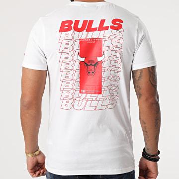 New Era - Tee Shirt Chicago Bulls Repeat Back Logo 12590892 Blanc