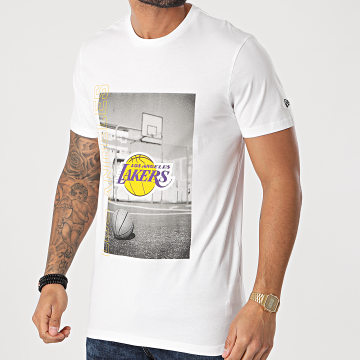 New Era - Tee Shirt Photographic Los Angeles Lakers 12590893 Blanc