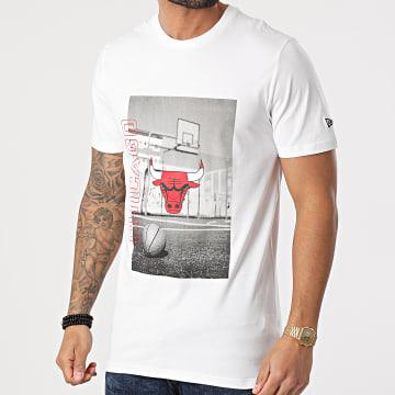 New Era - Tee Shirt Chicago Bulls NBA Photographic 12590894 Blanc