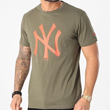 New Era - Tee Shirt New York Yankees Team Logo 12590905 Vert Kaki