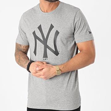 New Era - Tee Shirt New York Yankees Team Logo 12590906 Gris Chiné