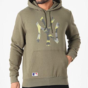 New Era - Sweat Capuche New York Yankees MLB Infill Logo 12590913 Vert Kaki