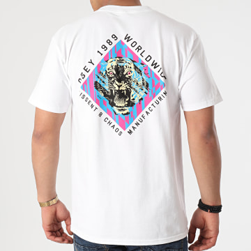 Obey - Tee Shirt Dissent And Chaos Tiger Blanc