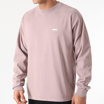 Obey - Tee Shirt Manches Longues Bold Violet