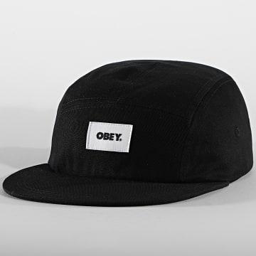 Obey - Casquette 5 Panel Bold Label Organic Noir