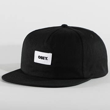 Obey - Casquette Snapback Bold Label Organic Noir