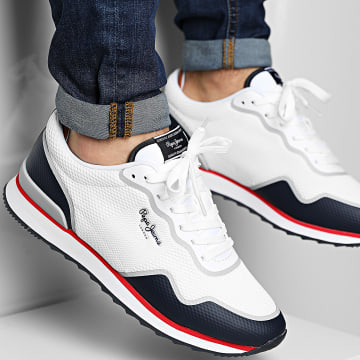 Pepe Jeans - Baskets Cross 4 Knit PMS30706 White