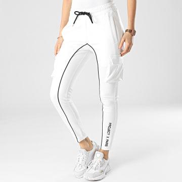 Project X Paris - Pantalon Jogging Femme F207041-1 Blanc