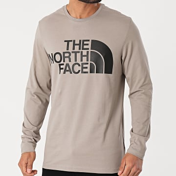 The North Face - Tee Shirt Manches Longues Standard A5585VQ8 Gris Taupe