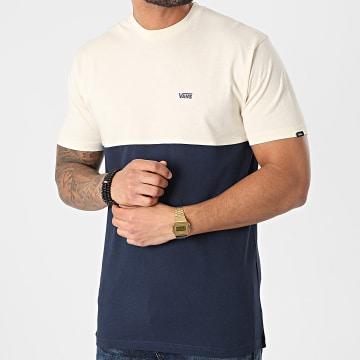Vans - Tee Shirt Colorblock 0A3CZDZ5 Beige Bleu Marine