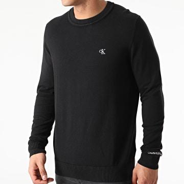 Calvin Klein - Pull Monogram Chest Logo 7118 Noir
