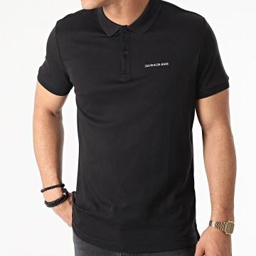 Calvin Klein - Polo Manches Courtes Micro Branding 7439 Noir