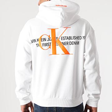 Calvin Klein - Sweat Capuche Urban Graphic Logo 8308 Blanc