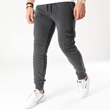 Criminal Damage - Pantalon Jogging Essential Utility Noir Chiné