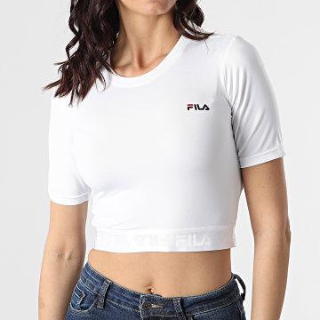Fila - Tee Shirt Femme Crop Caylin 688520 Blanc