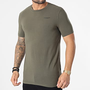 G-Star - Tee Shirt Slim Base D19070-C723 Vert Kaki