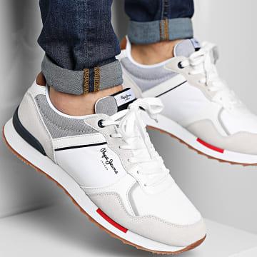 Pepe Jeans - Baskets Cross 4 Tech PMS30704 White