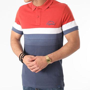 Blend - Polo Manches Courtes Tricolore 20711704 Bleu Rouge Brique