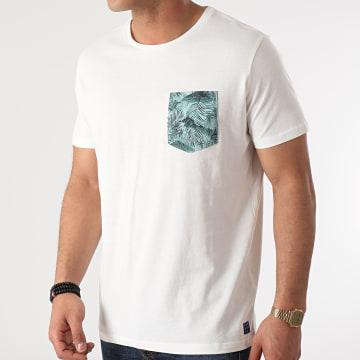 Blend - Tee Shirt Poche Floral 20712050 Blanc Cassé