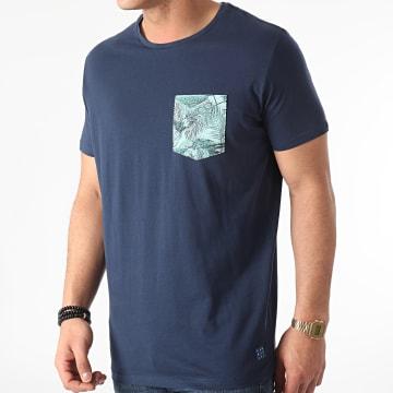 Blend - Tee Shirt Poche Floral 20712050 Bleu Marine