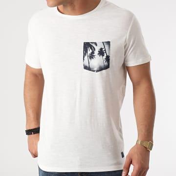 Blend - Tee Shirt Poche Floral 20712072 Blanc Cassé Chiné