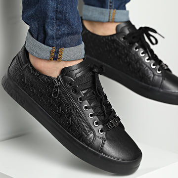 Calvin Klein - Baskets Vulcanized Lace Up Zip 0078 Black