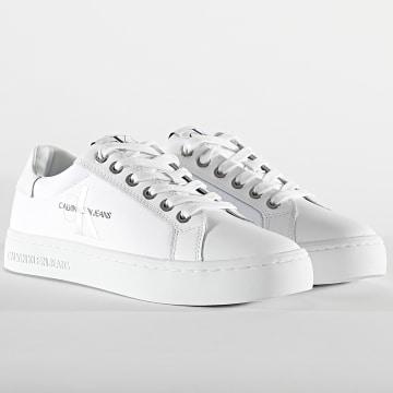 Calvin Klein - Baskets Femme Cupsole Lace Up 0060 Bright White