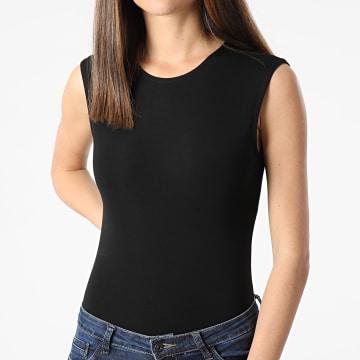 Girls Outfit - Body Femme Sans Manches E4684 Noir