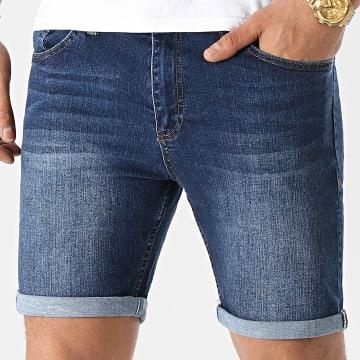 LBO - Short Jean Skinny Fit 1462 Denim Bleu Foncé
