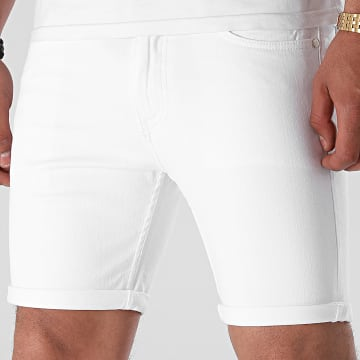 LBO - Short Jean Skinny Fit 1465 Denim Blanc