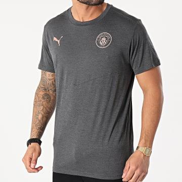Puma - Tee Shirt De Sport OM Warmup 758698 Gris Anthracite Chiné