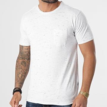 Solid - Tee Shirt Poche Renat 21105240 Blanc Chiné