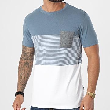 Solid - Tee Shirt Poche Riggin 21105263 Bleu Clair Blanc
