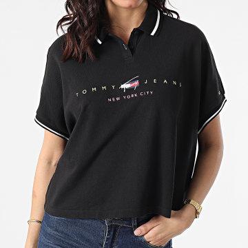 Tommy Hilfiger - Polo Manches Courtes Crop Femme BXY Modern 9908 Noir
