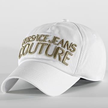 Versace Jeans Couture - Casquette Linea Man E8GWAK10 Blanc Doré
