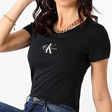 Calvin Klein - Tee Shirt Femme Monogram Classic 6577 Noir