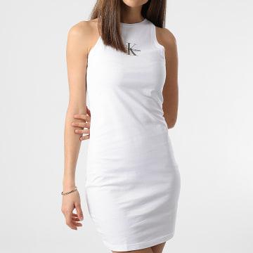 Calvin Klein - Robe Débardeur Femme Monogram 6579 Blanc
