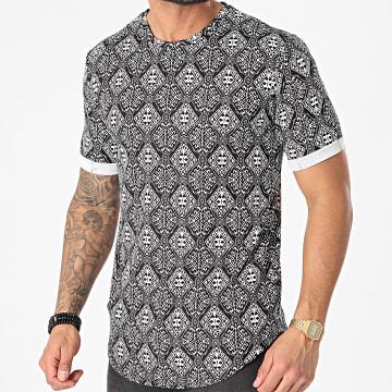 Frilivin - Tee Shirt Oversize A Carreaux 15190 Noir