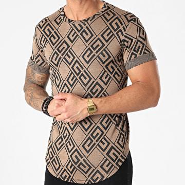 Frilivin - Tee Shirt Oversize U5186 Camel