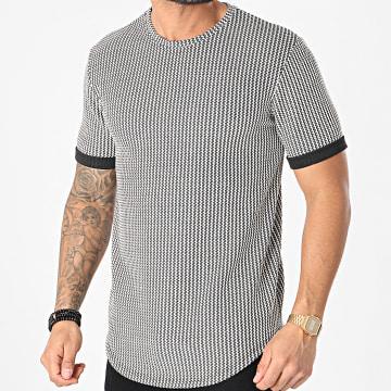 Frilivin - Tee Shirt Oversize 15191 Noir Blanc