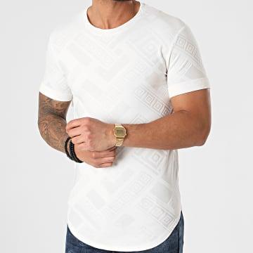 Frilivin - Tee Shirt Oversize Y5450 Ecru