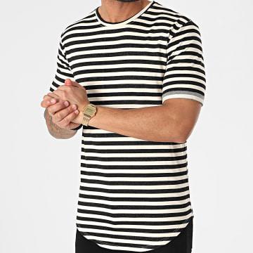 Frilivin - Tee Shirt Oversize A Rayures 15192 Noir Ecru