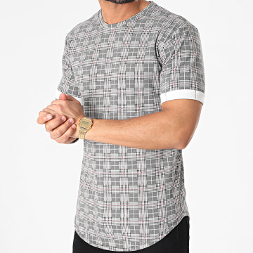 Frilivin - Tee Shirt Oversize A Carreaux 15195 Gris