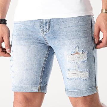 Frilivin - Short Jean Slim VJ293 Bleu Denim