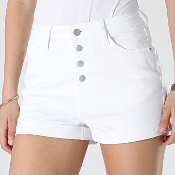 Girls Outfit - Short Jean Slim Femme JD311B Blanc