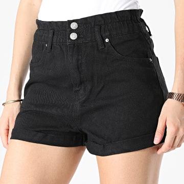 Girls Outfit - Short Jean Femme K9210 Noir