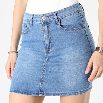 Girls Outfit - Jupe Jean Femme K20215 Bleu Denim