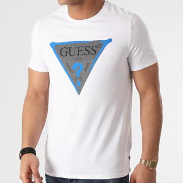 Guess - Tee Shirt Réfléchissant M01I55J1300 Blanc